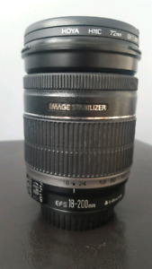 Canon EFS 18-200 mm camera lense