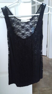 Pins and Needles Black Lace Tank (Urban Outfitters) (Medium)