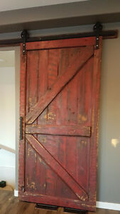 Barn wood BARN DOORS and accenting