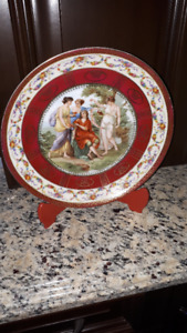 ----ANTIQUE ROYAL VIENNA PORCELAIN CABINET PLATE--
