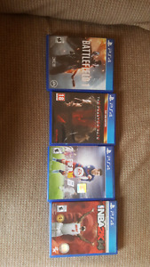 **PS4 GAMES FOR SALE**
