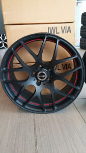 Mags Ikon IKS26 (PDW) staggered 19'' 5x112 noir mat et rouge (4)