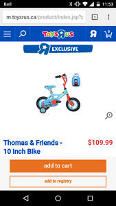 THOMAS & FRIENDS BIKE