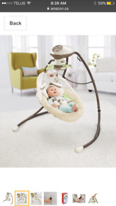 Fisher-Price Snuggle Bunny Baby Swing