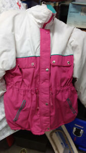 Pink and white winter  jacket clot  feather   jacket 3/4  length