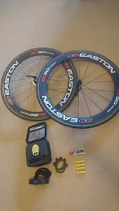Easton EC90 Carbon wheels with powertap power meter