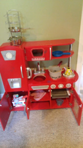 Kid craft kids Kitchen with food and accessories