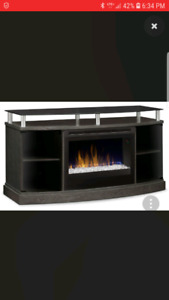 TV fireplace stand $650 obo.