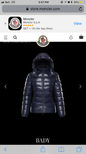 Looking to buy baddy moncler in size 1