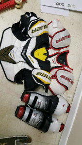 Hockey gear and sccoter