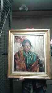 Don Schissler oil of Native Chief
