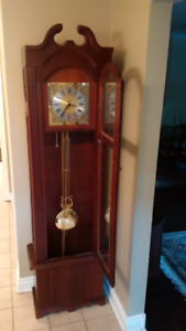 Grandfather Clock, solid wood, cherry finish, hand crafted