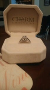 Beautiful engagement ring from charm diamond
