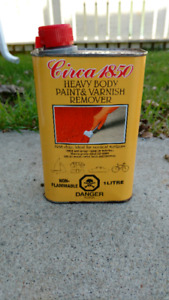 Paint and varnish remover.