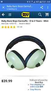 Baby Banz earmuffs, mint condition