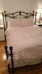 Iron bedframe queen size