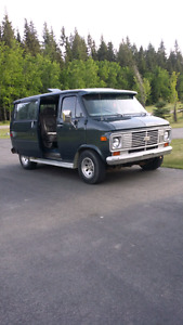 1977 Chevy shorty van project for sale