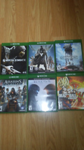 Pack of six Xbox one games
