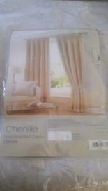 Cream Chenille Curtains