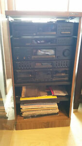 Kenwood Home Stereo with cabinet