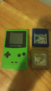 Gameboy Color with 2 Pokemon Games!