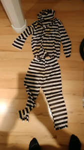 Halloween costume - prison outfit, $10