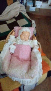Newborn ( soft body)-Vintage + Carrying Basket--$35.