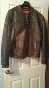 Men's First Classics Eagle Brown Motorcycle Leather Jacket.