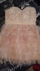 Pink Bebe Strapless Christmas Party Dress For Sale Edmonton Edmonton Area image 1