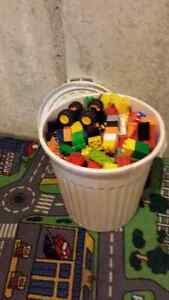Large bucket of duplo with Rare discontinued Lightning McQueen Kitchener / Waterloo Kitchener Area image 1