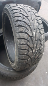 4 pneu d'hiver HANKOOK 225 45R 17 comme neuf @ 11/32