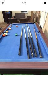 Pool table 210cm by 120cm