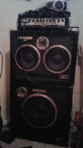 Behringer 450 watt bass stack and extras for trade!