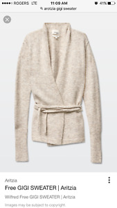 Aritzia gigi sweater in xxs