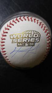 David Ortiz-Autographed 2004 World Series Official Baseball