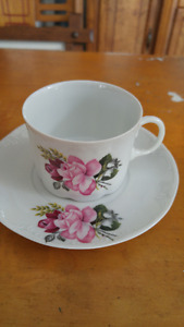 Beautiful vintage porcelain  cup and saucer