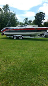1989 chapparel boat and trailer