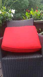 """New 3"""" thick patio cushions for sale (high end). $120 for all 5."""