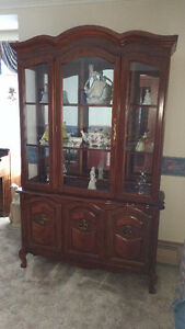 Cherry Wood Dining Set with Buffet & Hutch - NEW PRICE!!!