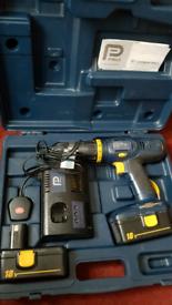 pro drill 18v hammer drill x2 batteries