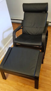 Rocking Chair with Leather Cushions