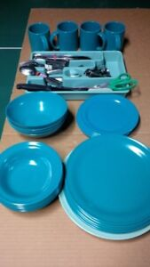 Camping Dishes and cutlery