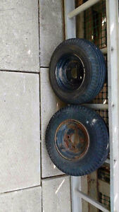 TRAILER TIRES  SIZE 4.8 X 8, three, one new