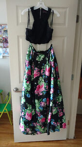 Cutaway Crop Prom Dress with Pockets ($300 OBO)