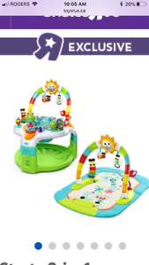 Bright Start 2-1 activity center/centre d'eveil, tapis activité