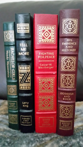 Easton Press signed first edition leather bound books
