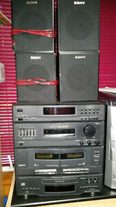 Sony stereo system CD player & cassette
