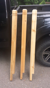 "Several Brand New - 54"" Ring Top Deck Posts"