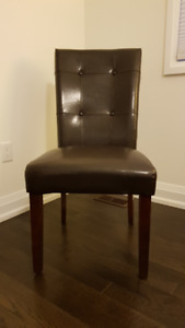 One New Mint Condition Chocolate Brown Parsons Accent Chair