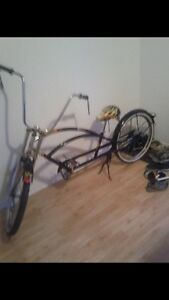 Bicycle style lowrider cruiser